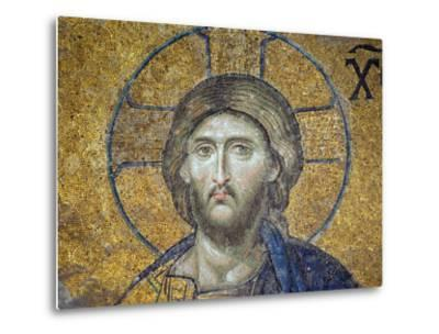 Turkey, Istanbul, Hagia Sophia; Detail from the Deesis Mosaic-Nick Laing-Metal Print