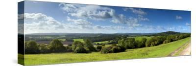 North Downs from Newlands Corner, Nr; Guildford, Surrey, England-Jon Arnold-Stretched Canvas Print