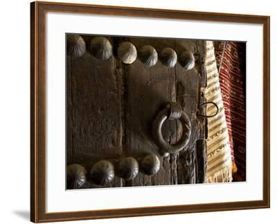 Door in the Old City of Fes, Morocco-Julian Love-Framed Photographic Print