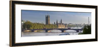Big Ben, Houses of Parliament and River Thames, London, England-Jon Arnold-Framed Photographic Print