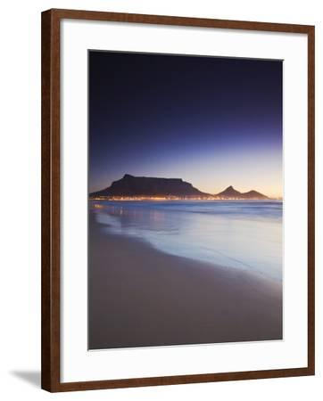 People Crossing Footbridge at Victoria and Alfred Waterfront, Cape Town, Western Cape, South Africa-Ian Trower-Framed Photographic Print