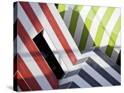 Abstract Design in a Expo in Barcelona, Catalonia, Spain-Carlos Sanchez Pereyra-Stretched Canvas Print