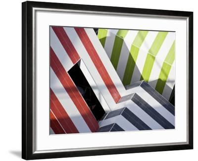 Abstract Design in a Expo in Barcelona, Catalonia, Spain-Carlos Sanchez Pereyra-Framed Photographic Print