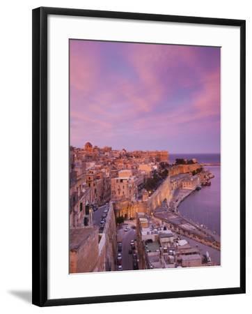 Malta, Valletta, City View from Upper Barrakka Gardens-Walter Bibikow-Framed Photographic Print