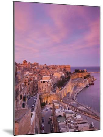 Malta, Valletta, City View from Upper Barrakka Gardens-Walter Bibikow-Mounted Photographic Print