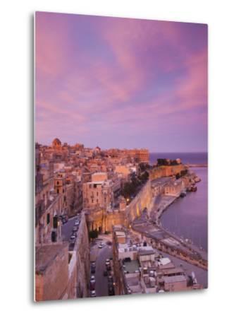 Malta, Valletta, City View from Upper Barrakka Gardens-Walter Bibikow-Metal Print