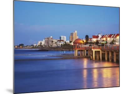 Summerstrand Beachfront at Dusk, Port Elizabeth, Eastern Cape, South Africa-Ian Trower-Mounted Photographic Print