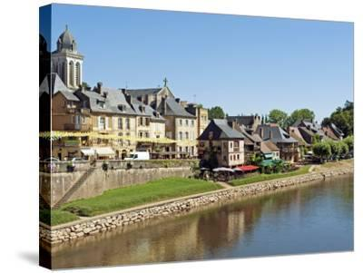 Europe, France, Dordogne, Montignac; the Market Town of Montignac on the Vézère-Nick Laing-Stretched Canvas Print