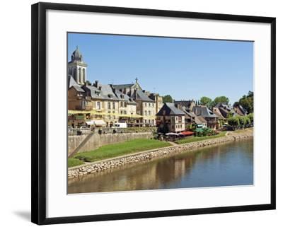 Europe, France, Dordogne, Montignac; the Market Town of Montignac on the Vézère-Nick Laing-Framed Photographic Print