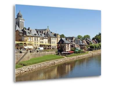 Europe, France, Dordogne, Montignac; the Market Town of Montignac on the Vézère-Nick Laing-Metal Print