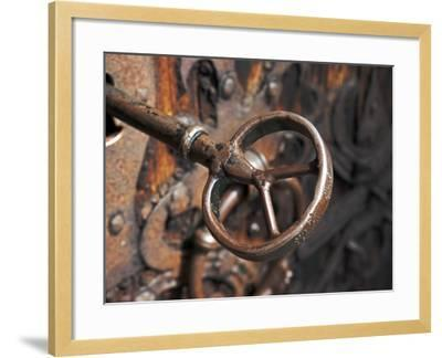 Sweden, Island of Gotland; a Antique Key and Lock Still in Use on the Medieval Church Door-Mark Hannaford-Framed Photographic Print