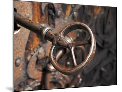 Sweden, Island of Gotland; a Antique Key and Lock Still in Use on the Medieval Church Door-Mark Hannaford-Mounted Photographic Print