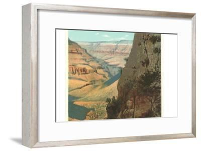 Pack Animals on Trail in Grand Canyon--Framed Art Print