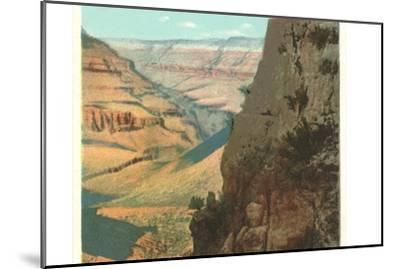 Pack Animals on Trail in Grand Canyon--Mounted Art Print