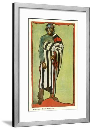 Navajo, Santa Fe Fiesta Illustration--Framed Premium Giclee Print