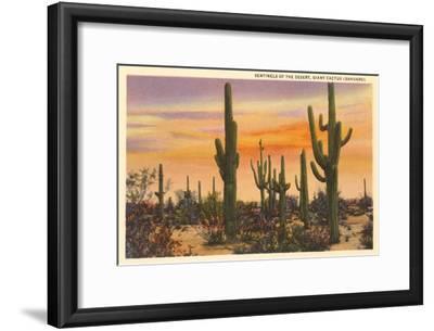 Saguaro Cacti--Framed Premium Giclee Print