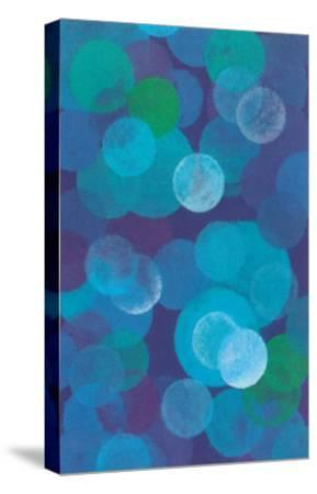 Floating Blue Spheres--Stretched Canvas Print