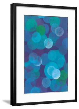 Floating Blue Spheres--Framed Art Print
