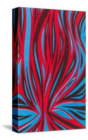 Psychedelic Pattern of Red and Blue--Stretched Canvas Print