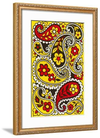 Psychedelic Paisleys, Yellow and Red--Framed Art Print