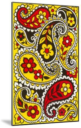 Psychedelic Paisleys, Yellow and Red--Mounted Art Print