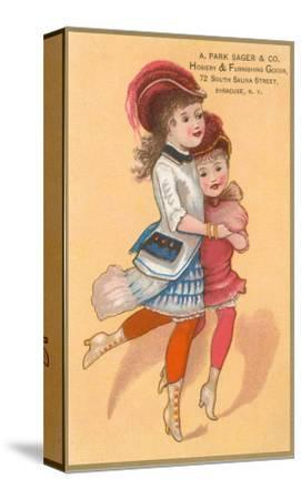 Victorian Sisters Dancing--Stretched Canvas Print