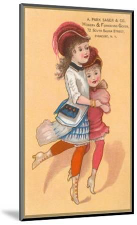 Victorian Sisters Dancing--Mounted Art Print