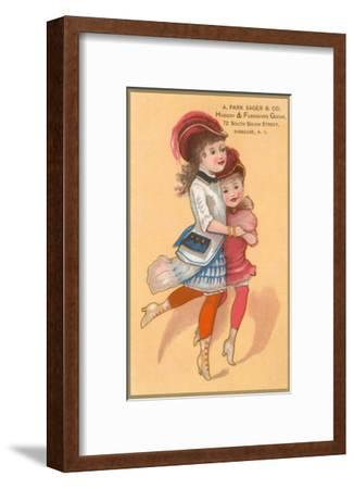 Victorian Sisters Dancing--Framed Art Print