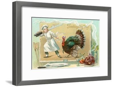 Chef Leading Turkey--Framed Art Print