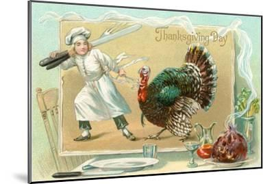 Chef Leading Turkey--Mounted Art Print