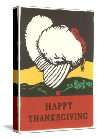 Stylish Turkey, Happy Thanksgiving--Stretched Canvas Print