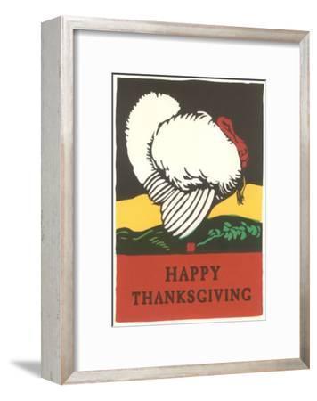 Stylish Turkey, Happy Thanksgiving--Framed Art Print