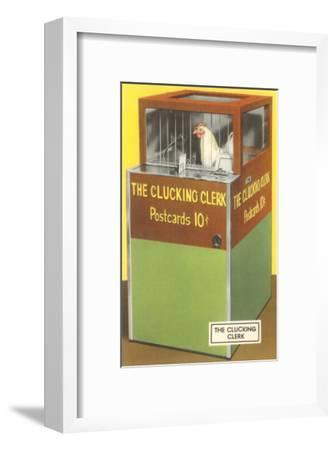 The Clucking Clerk--Framed Art Print