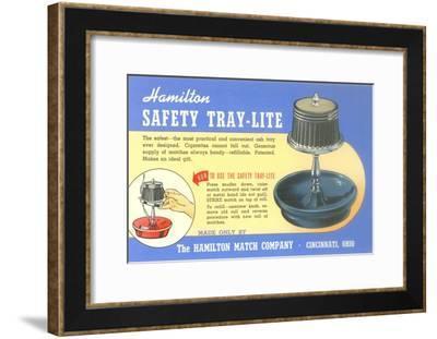 Ashtray Lamp Advertisement--Framed Art Print