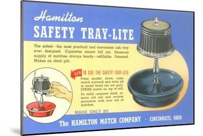 Ashtray Lamp Advertisement--Mounted Art Print