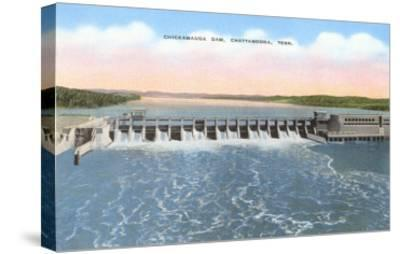 Chickamauga Dam, Chattanooga, Tennessee--Stretched Canvas Print