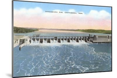 Chickamauga Dam, Chattanooga, Tennessee--Mounted Art Print