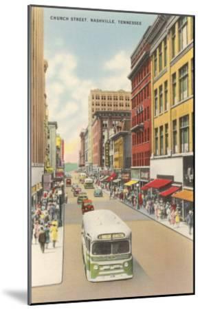 Church Street, Nashville, Tennessee--Mounted Art Print