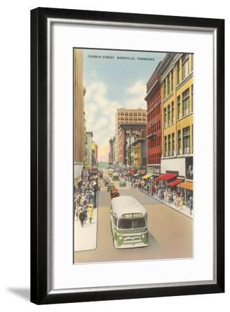 Church Street, Nashville, Tennessee--Framed Art Print