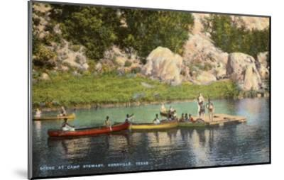 Canoes at Camp Steward, Kerrville, Texas--Mounted Art Print