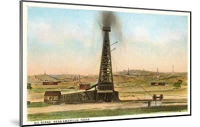 Oil Gusher, Amarillo, Texas--Mounted Art Print