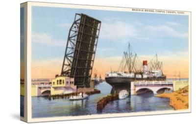 Bascule Bridge, Corpus Christi, Texas--Stretched Canvas Print