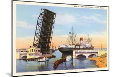 Bascule Bridge, Corpus Christi, Texas--Mounted Art Print