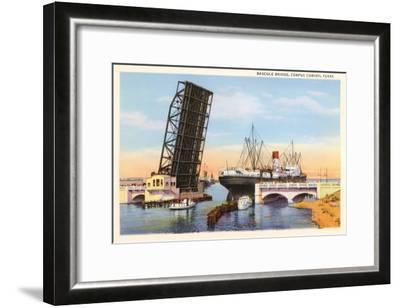 Bascule Bridge, Corpus Christi, Texas--Framed Art Print
