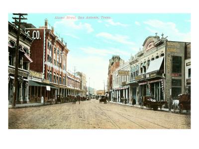 Alamo Street, San Antonio, Texas--Framed Art Print
