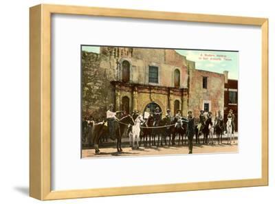 Hold-Up Re-enactment, Alamo, San Antonio, Texas--Framed Art Print