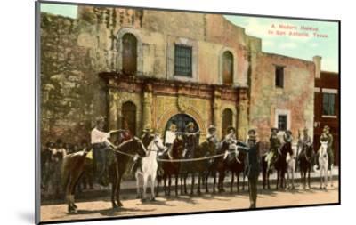 Hold-Up Re-enactment, Alamo, San Antonio, Texas--Mounted Art Print