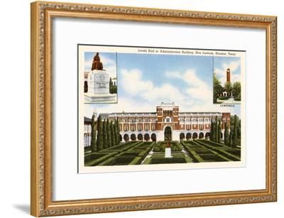 Rice Institute, Houston, Texas--Framed Art Print