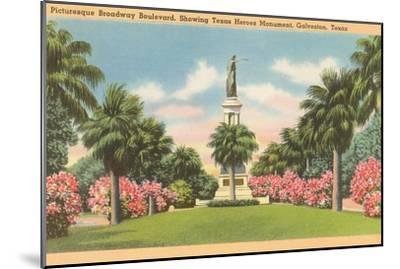 Texas Heroes Monument, Galveston, Texas--Mounted Art Print