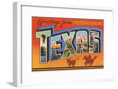 Greetings from Fredricksburg, Texas--Framed Art Print